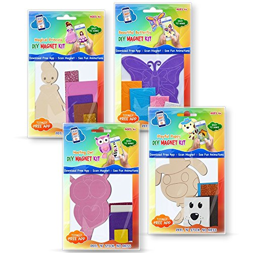 Kids Crafts DIY Magnets for Girls Age 4+ with Free APP Download to Create Work of Art. for $<!--$14.95-->