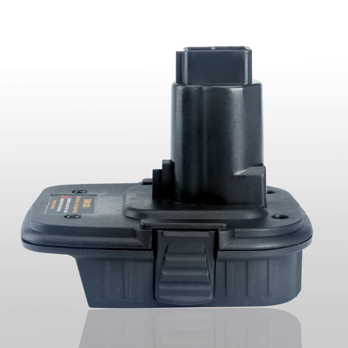 Lasica 20V Battery Adapter DCA1820 with USB port for Dewalt 18V Tools, Convert Milwaukee 18V Lithium Battery M18 DeWalt MAX 20Volt Lithium-Ion Battery DCB204 to DeWalt 18V NiCad NiMh Battery DC9096 by Lasica (Image #8)