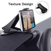Modohe Car Phone Mount Phone Holder HUD Design Car Phone Mount Stand Universal Phone Holder Cradle with 3 Cable Clip Holders for Safe Driving, for iPhone Android