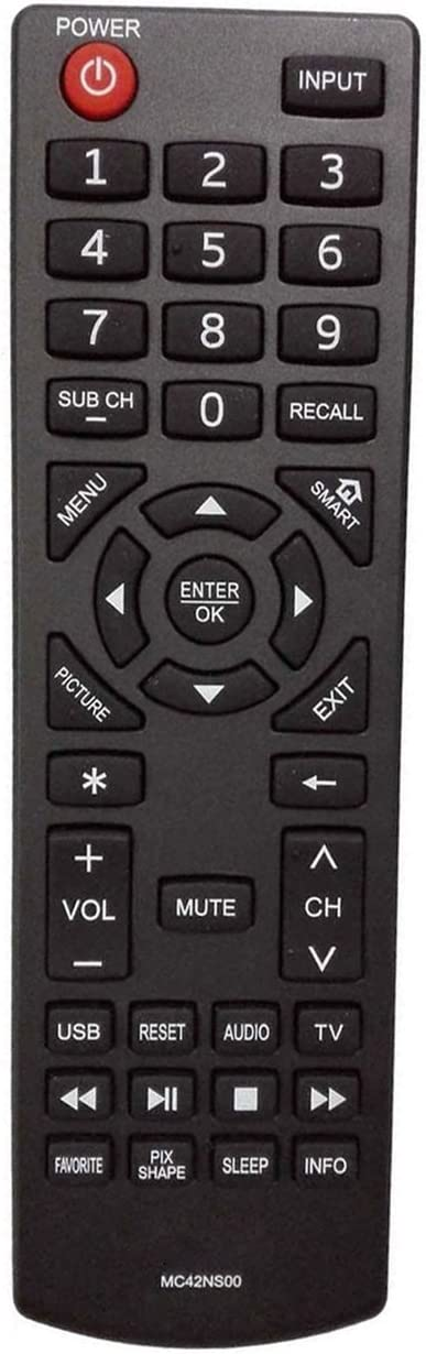 New MC42NS00 Remote Control Replaced for Sanyo DP24E14 DP39D14 DP42D24 DP50E44 DP55D44 DP58D34 DP65E34 FVD3924 FVD5044 FVF5044M LED LCD HDTV