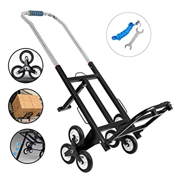 ZEHNHASE Carro para escaleras con 6 ruedas, 150kg Carro Portátil de Escalera para Todos los Terrenos Carretilla Plegable: Amazon.es: Industria, empresas y ciencia