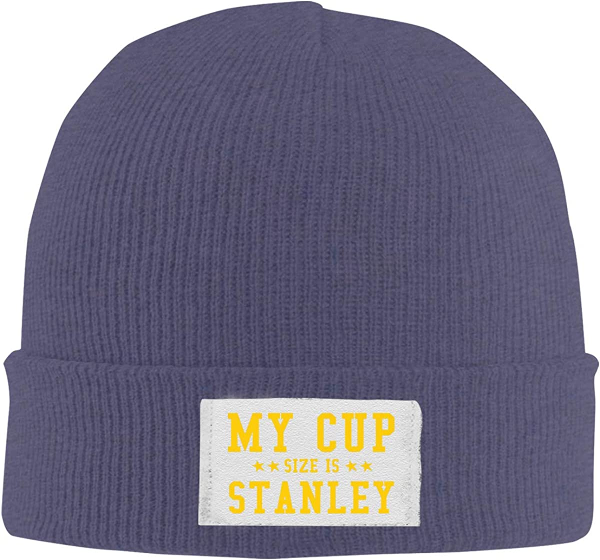 My Cup Size is Stanley Top Level Beanie Men Women Unisex Stylish Slouch Beanie Hats Black