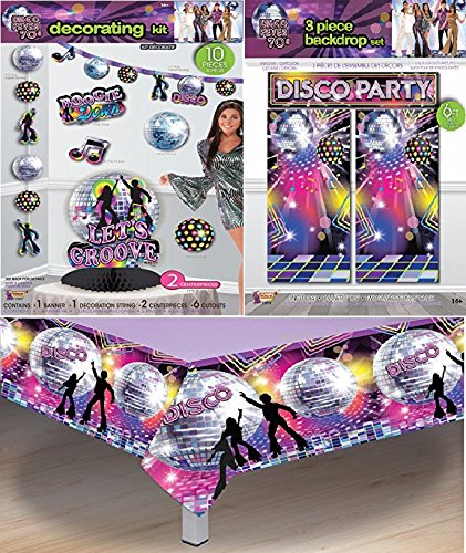 Multiple Boogie Nights Disco Party Decoration Set Disco Set
