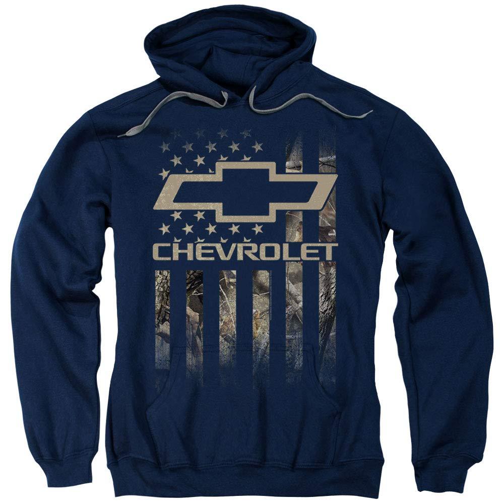 Amazon.com  Chevrolet Camo Flag Pullover Hoodie XL Navy Blue  Clothing 232cf0dc6c1