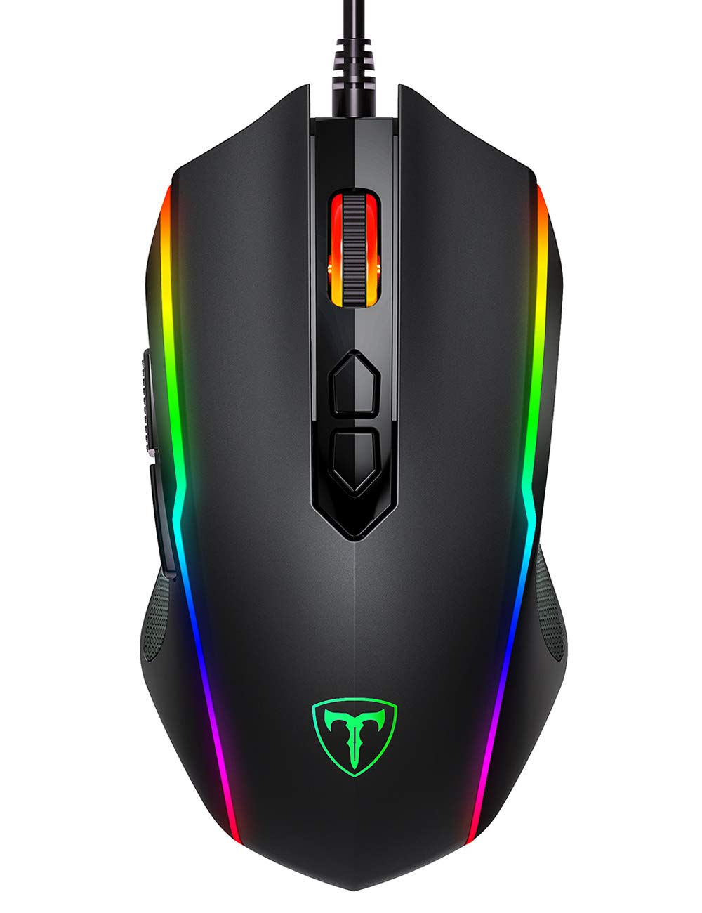 PICTEK Gaming Mouse Wired, 8 Programmable Buttons, Chroma RGB Backlit, 7200 DPI Adjustable, Comfortable Grip Ergonomic Optical PC Computer Gaming Mice with Fire Button, Black (Upgraded Version) by PICTEK (Image #8)