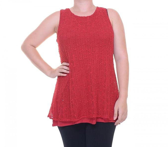 Alfani Women s Sleeveless Red Top Size XS at Amazon Women s Clothing ...
