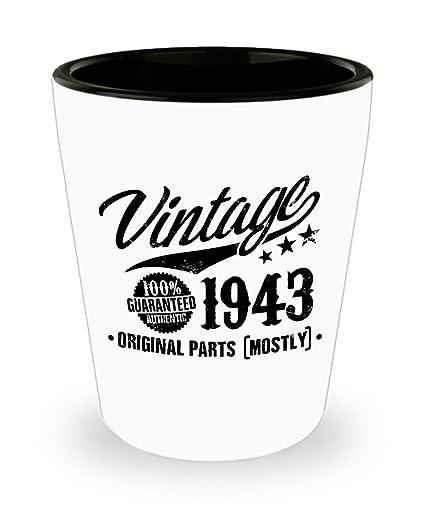 75th Birthday Gift Vintage 1943 Shot Glass
