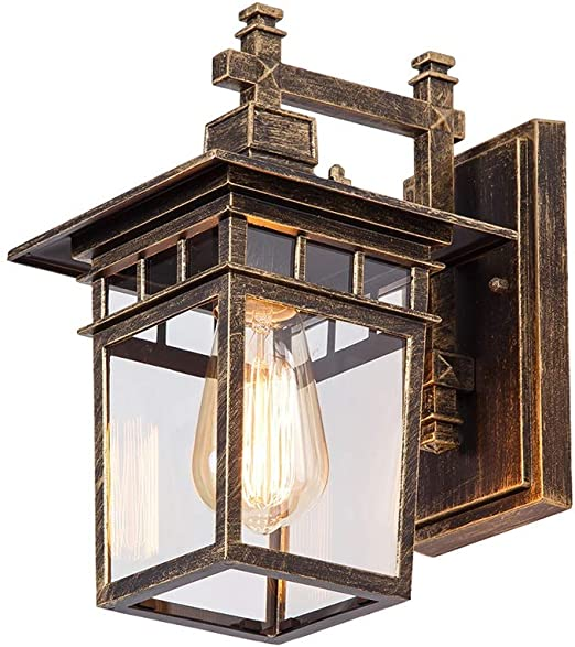 Wenhui Lámpara de Pared Exterior Minimalista Estadounidense ...