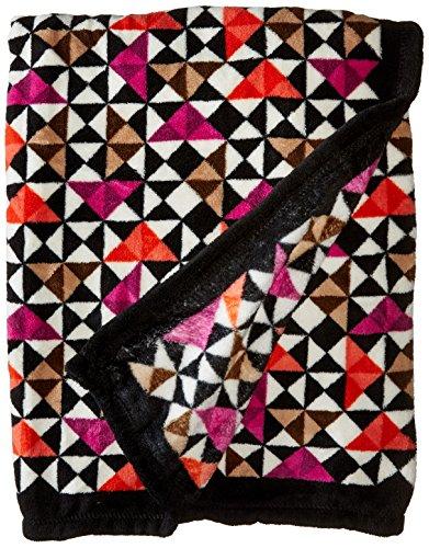 Vera Bradley Fleece Travel Blanket, Rosewood Chips, One Size (Fleece Fabric Throw Blanket)