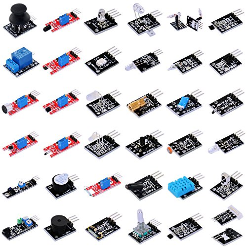 37 in 1 Sensor Starter Kit for Arduino Relay LED Buzzer Joystick Laserhead by Aigh Auality shop