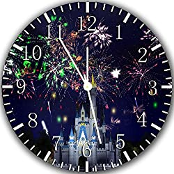 Cinderella Castle Firework Frameless Borderless Wall Clock Z86 Nice for Gift or Room Wall Decor