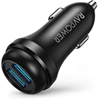 RAVPower 36W QC 3.0 Dual USB Ports Car Charger Adapter