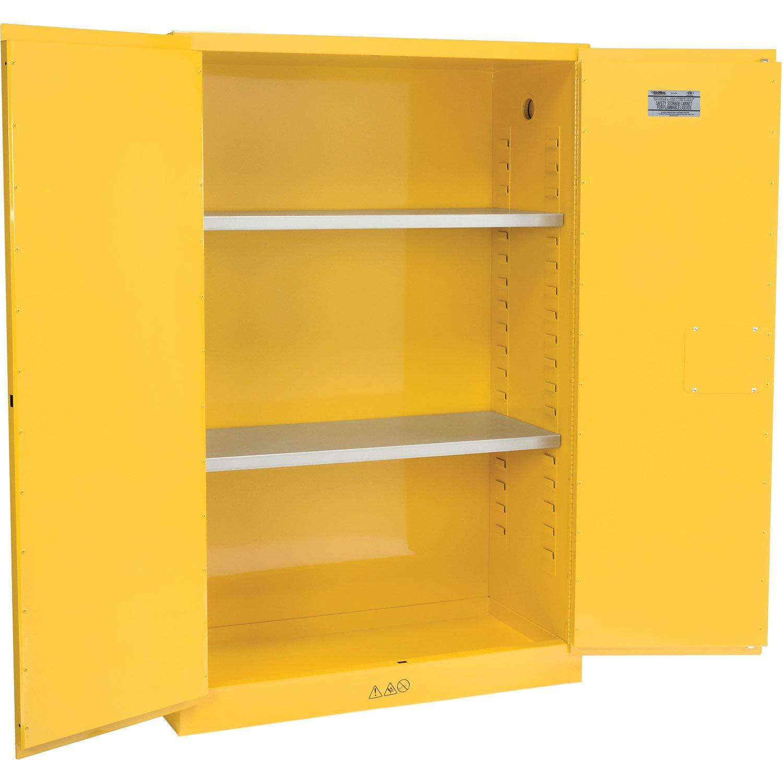 45 Gallon Flammable Cabinet, Manual Close, 43''W x 18''D x 65''H