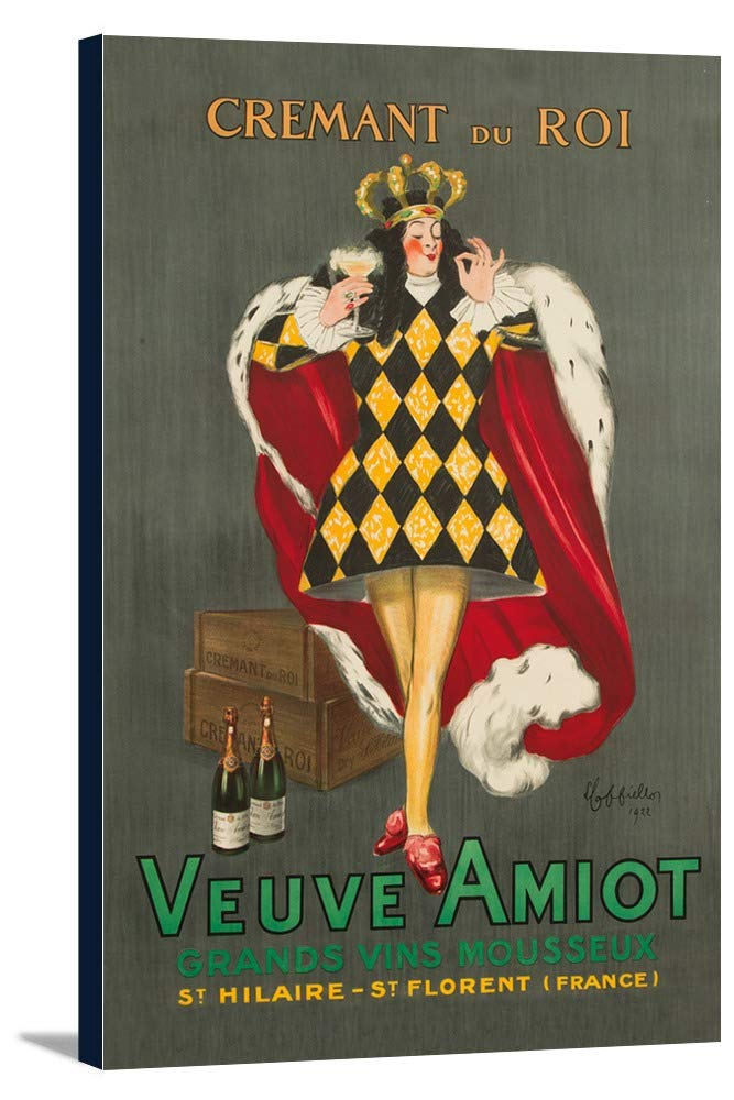 Veuve Amiot – Cremant du Roiヴィンテージポスター(アーティスト: Leonetto Cappiello )フランスC。1922 24 x 36 Gallery Canvas LANT-3P-SC-63921-24x36 B0184AVH7W  24 x 36 Gallery Canvas