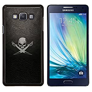 Be-Star Único Patrón Plástico Duro Fundas Cover Cubre Hard Case Cover Para Samsung Galaxy A7 / SM-A700 ( Pirate Symbole Inscription Skull Swords bateau à voile )
