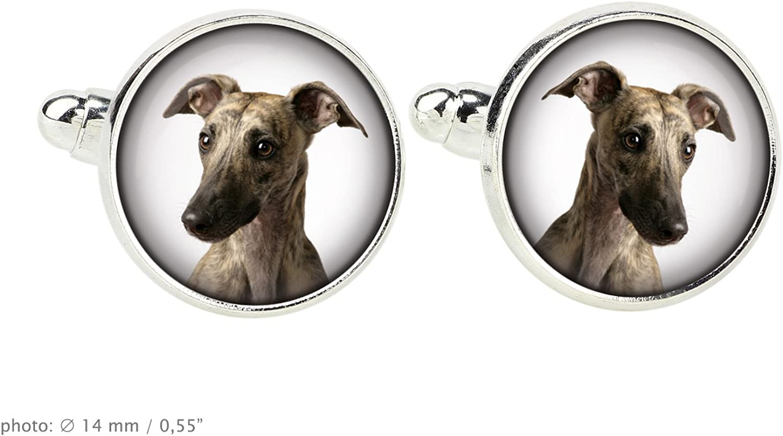 Select Gifts I Love My Dog Silver-Tone Cufflinks Italian Greyhound