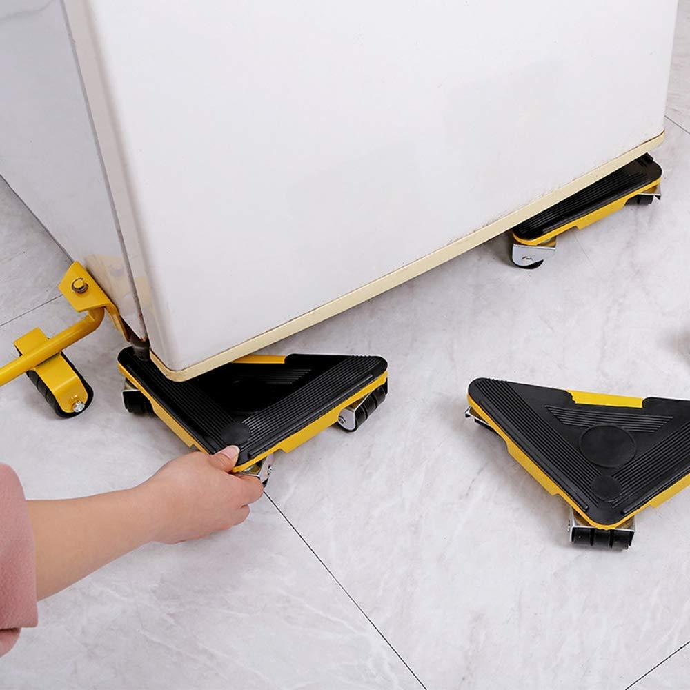Jaune 5 pi/èces ensemble de rouleaux de d/ém/énagement pour meubles Lifter de transport de meubles lourds