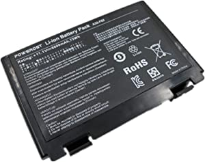 Powerost High Capacity 6-Cell 11.1V 6600mAh A32-F82 Laptop Battery for Asus K50 K50IJ K50IN F82 K50I X5D K60IJ K50IJ K50I K60I X8D Fits P/N A32-F52 L0690L6 L0A2016