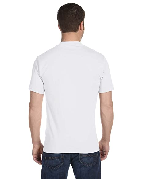 0c6a6a7e Hanes Ultimate Men's 5-Pack Tagless ComfortSoft Crewneck T-Shirt, White,  Small