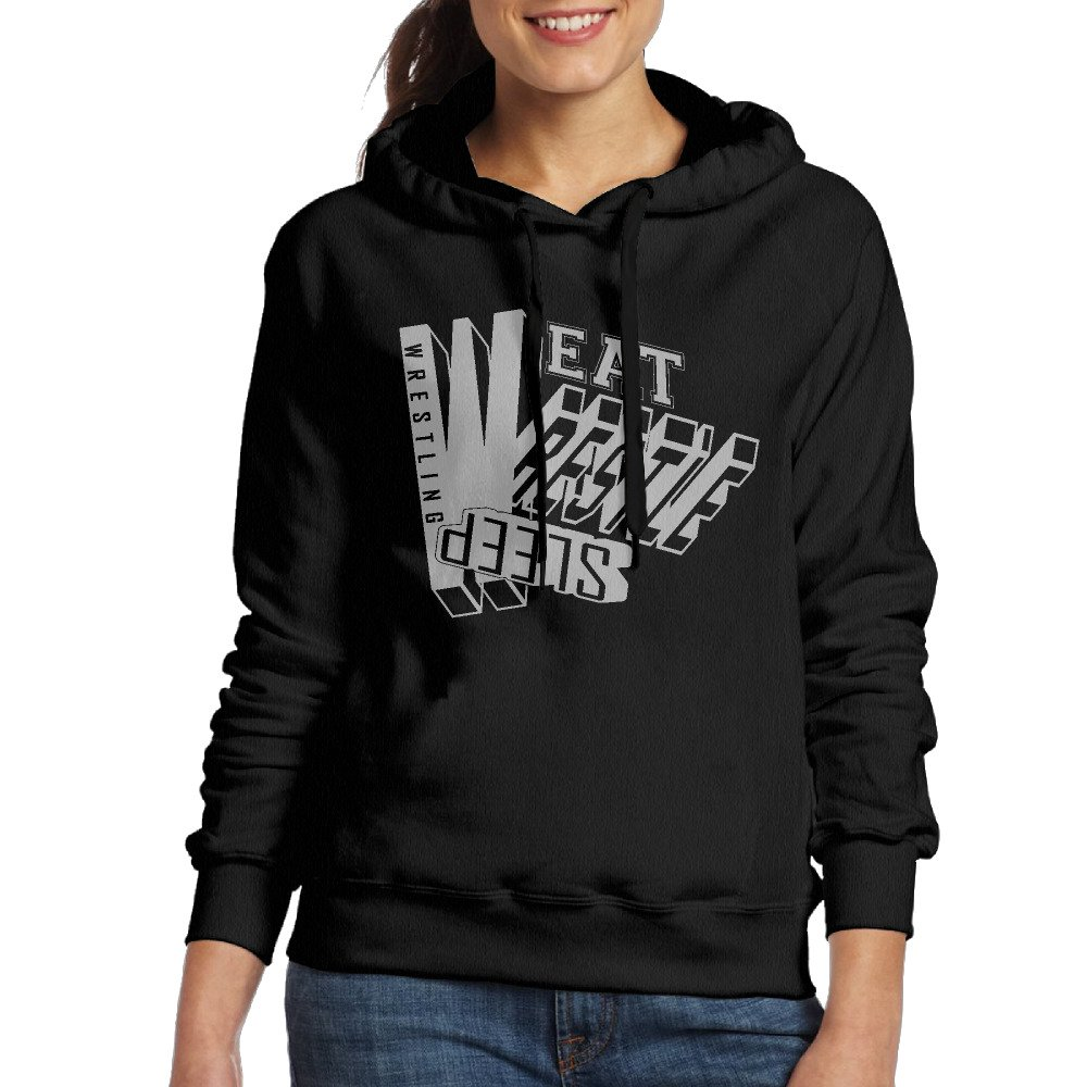 Woman's Eat Sleep Wrestle Wrestling Casual Hoodie Sweatshirt