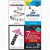 img - for 7 Habits of highly effective teens, oversubscribed, drive, life leverage 4 books collection set book / textbook / text book