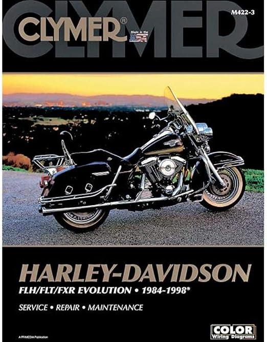 Amazon Com Clymer Repair Manual For Harley Flh Flt Fxr 84 98 Automotive