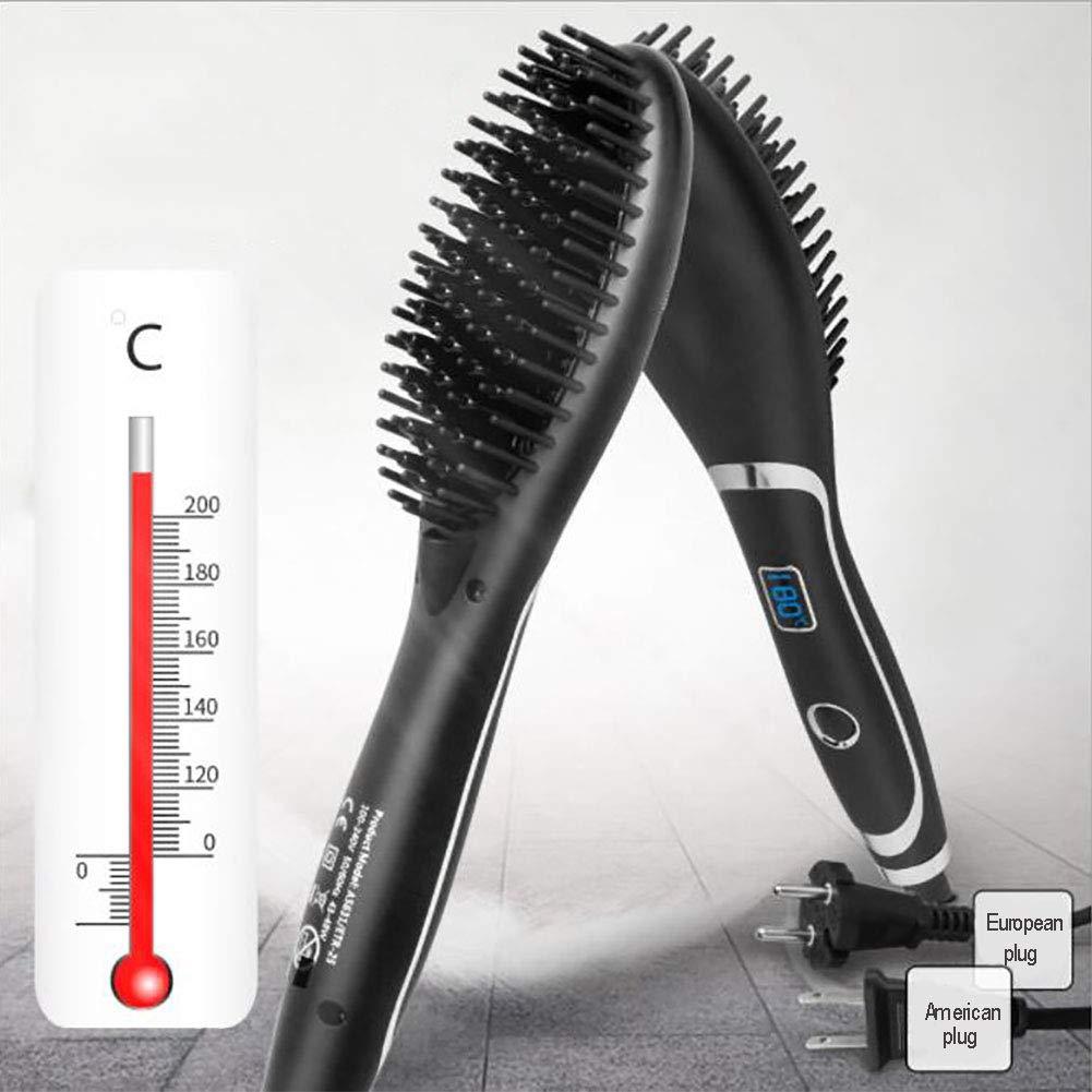 CSFM-Hair Cepillo de la Plancha de Pelo Enderezar el Peine Cerámico Anión Cuidado del Cabello Anti estático Anti escaldado Cinco velocidades Ajuste de ...