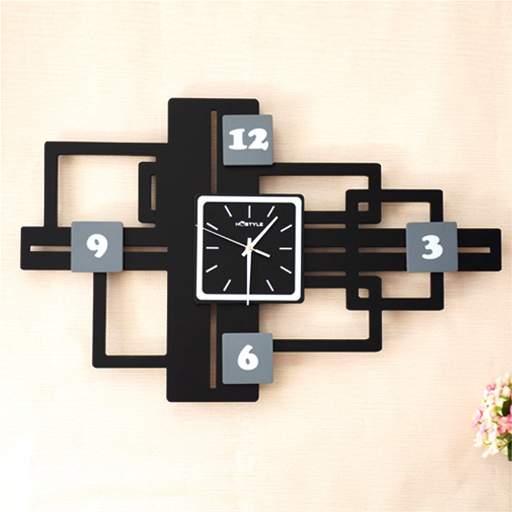 YFF-壁時計 18インチモダンシンプルファッションウォールクロックミュートクリエイティブファッションパーソナリティ木製ウォールマウントクロック ( サイズ さいず : S s ) B07CKS6RR2 S s S s