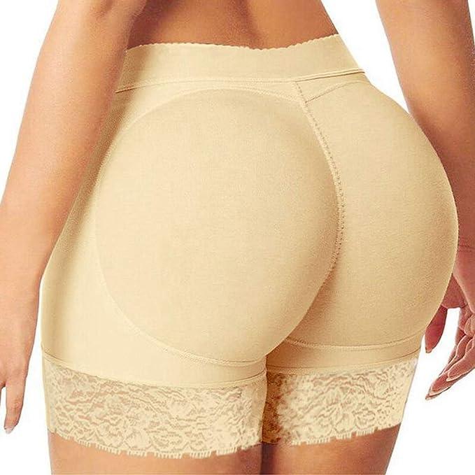 Zarbrina Womens Lace Seamless Butt Lifter Padded Panties Hip Enhancer Shaper Underwear