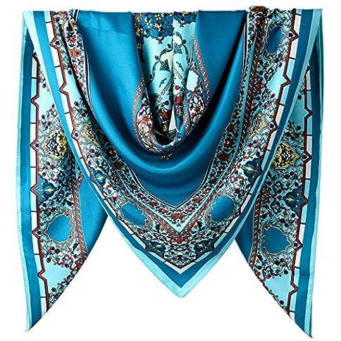 - 61UuA 2Bo7KsL - 40″ Women Twill Satin Polyester Silk Feeling Square Hair Wrapping Square Scarfs bestsellers - 61UuA 2Bo7KsL - Bestsellers