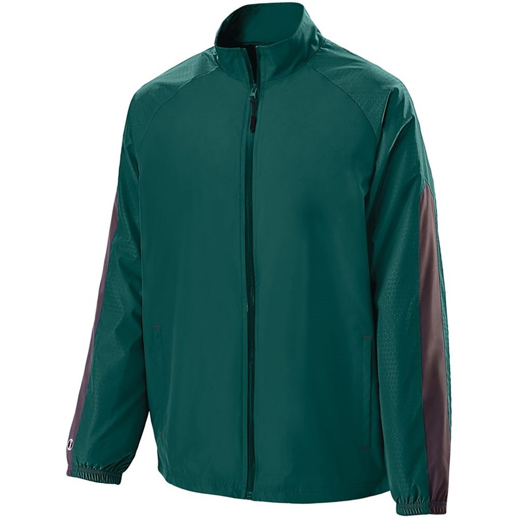 Holloway Youth Bionic Jacket (Large, Dark Green/Carbon) by Holloway