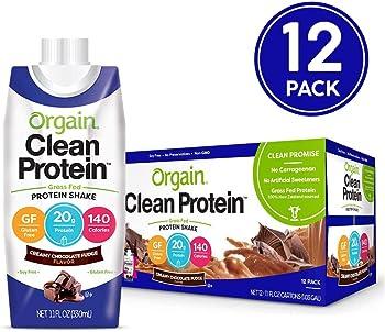 12-Count Orgain Grass Fed Creamy Chocolate Fudge Protein Shake 11 oz