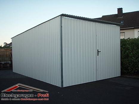 Chapa Garage Montado garajes metal Garage Almacenamiento Halle Garage 3 x 5 A Escala tejado plano