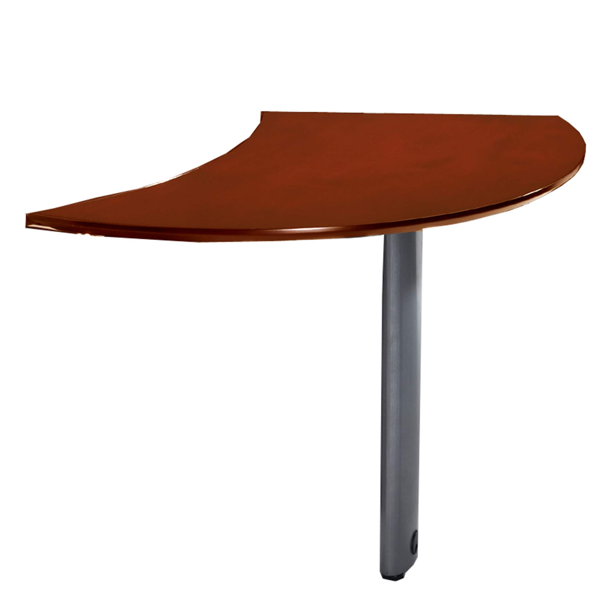 Mayline NEXTLCRY Napoli Curved Desk Left Extension for use with Desks. sold separately, Sierra Cherry Veneer by Safco