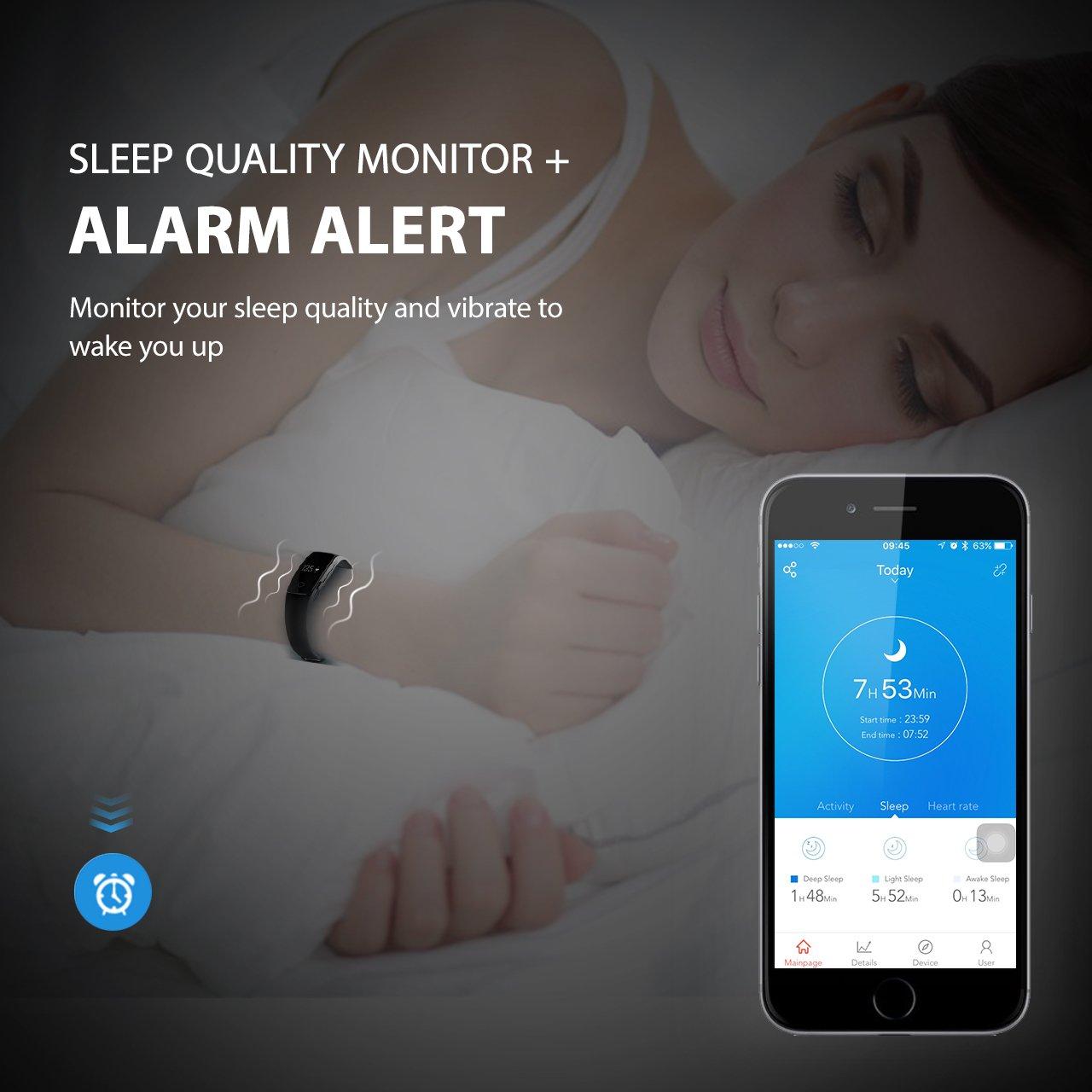 Fitness Tracker, Mpow Heart Rate Monitor Tracker Smart Bracelet ...