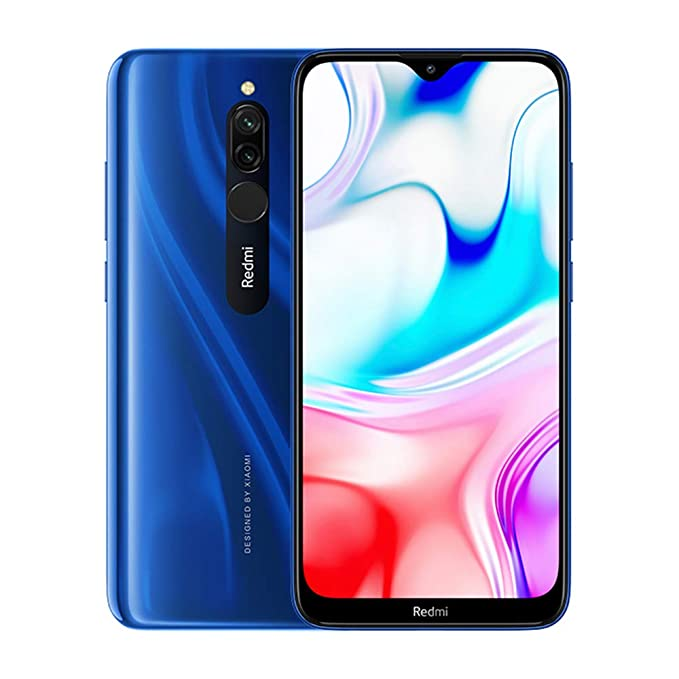 "Xiaomi Redmi 8 Teléfono 4GB RAM + 64GB ROM, Pantalla de caída de Puntos de 6.22 "", procesador Snapdragon 439 Octa-Core, cámara Frontal Dual de 8MP y cámara Trasera Dual AI de 12MP + 2MP (Azul)"