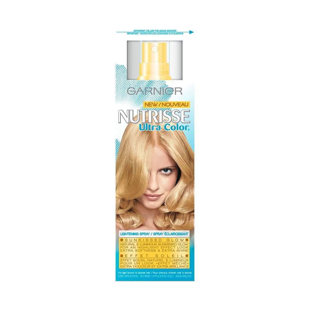 Garnier Nutrisse Ultra Hair Color Lightening Spray. Sun-kissed, Natural Highlights