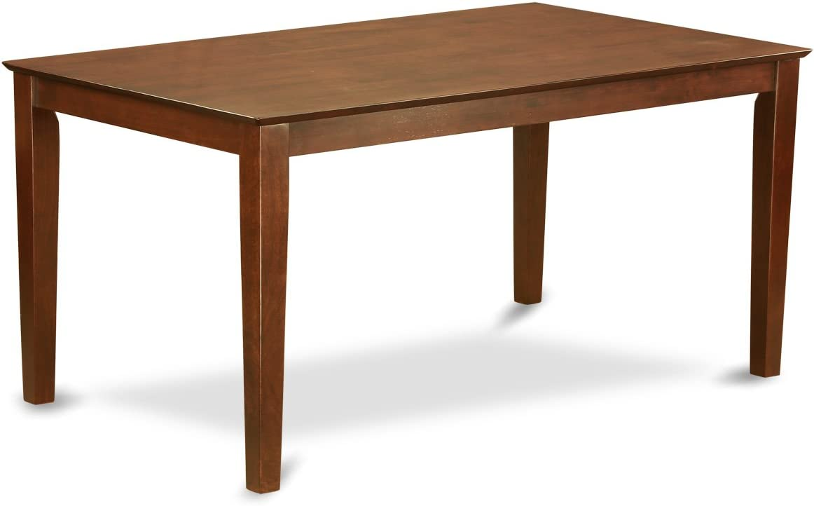 CAGR5-MAH-W 5Pc Rectangle 60 Inch Dining Table And 4 Wood Seat Kitchen Chairs