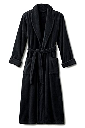 e24b5f4672 Image Unavailable. Image not available for. Color  Black XXL Terry Bathrobe.  Full Length 50 Inches. 100% Cotton