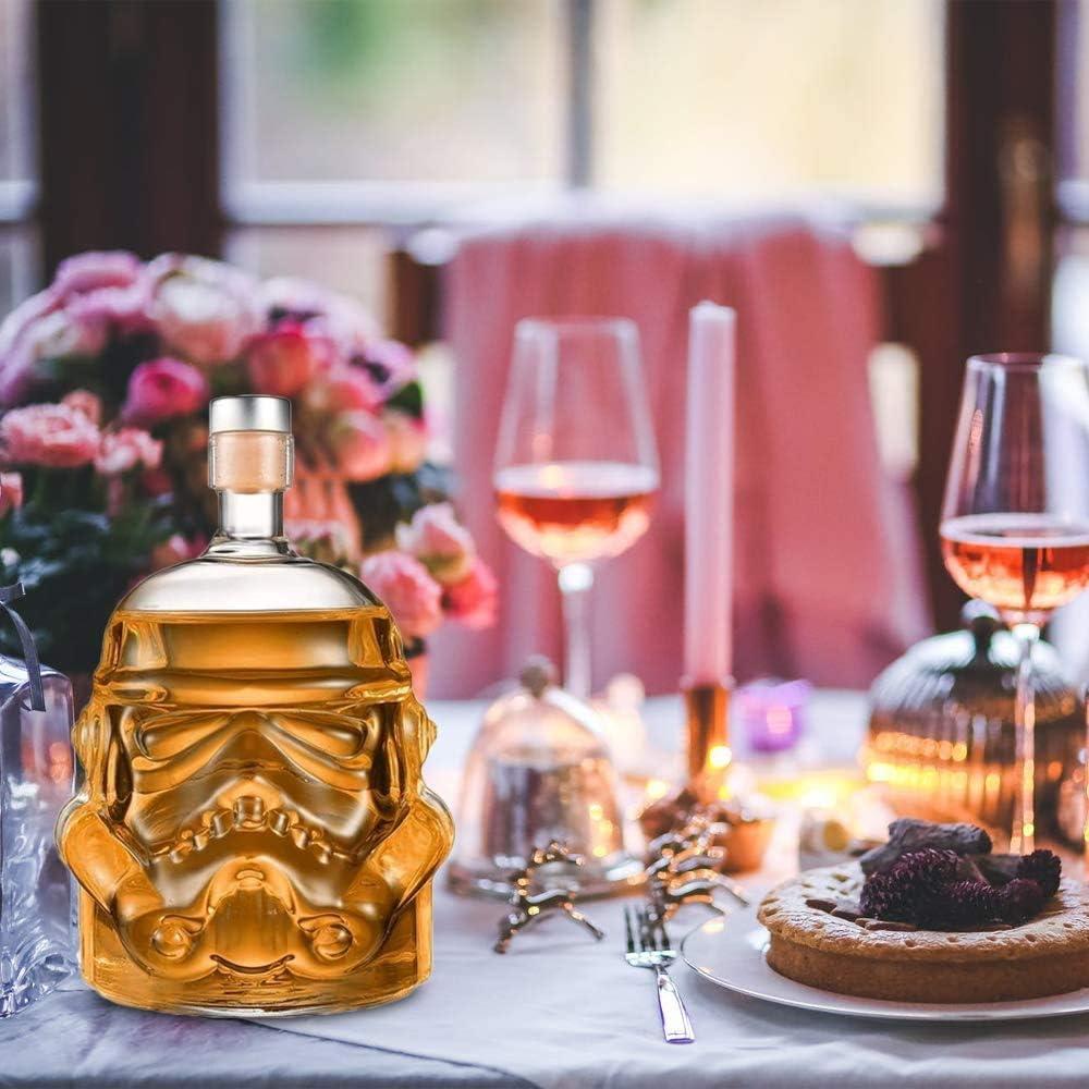 AUTHOME - Jarra para Whisky, Jarra, Stormtrooper Bottle, decantador, jarrón de decantación, Original Stormtrooper Jarra de Cristal Transparente, ...