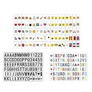 270 letras n meros s mbolos y emojis para caja - Cadre lumineux lettre ...