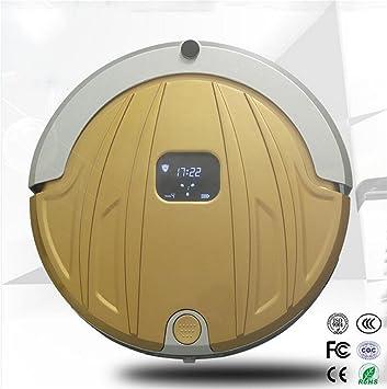 Xh&Yh Robot Aspirador con Potente Aspiración y Control Remoto Super para Alfombra Delgada y Pisos Duros