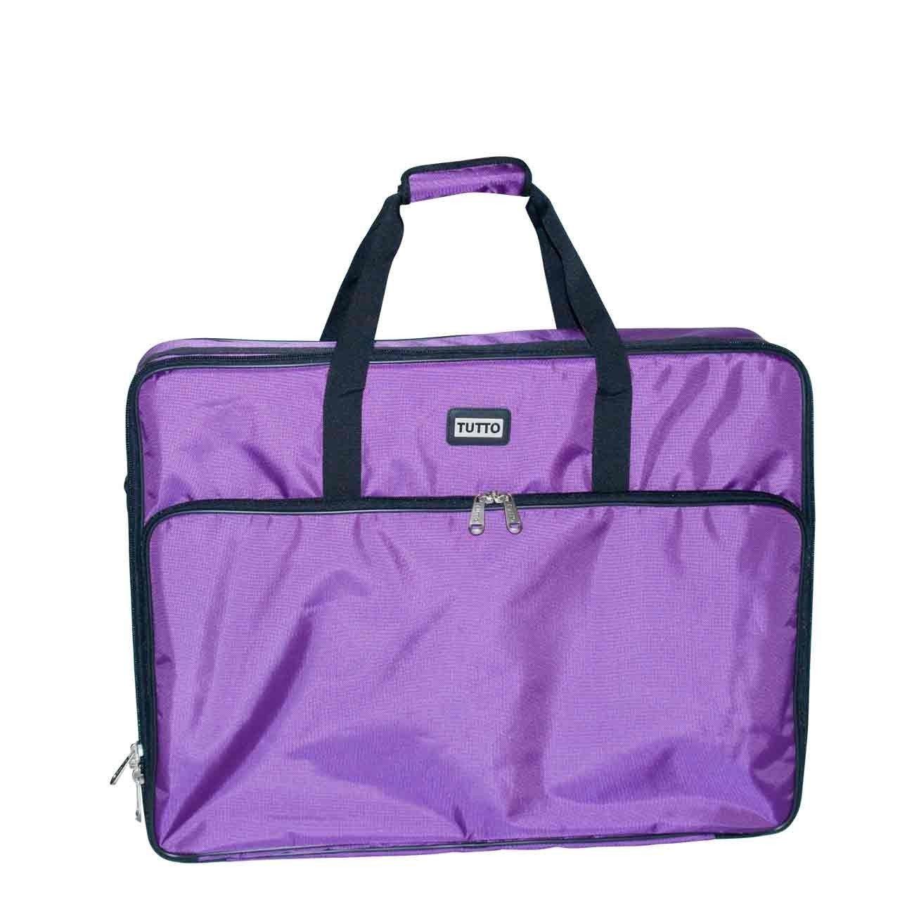 "Tutto 26"" Purple Embroidery Project Bag"