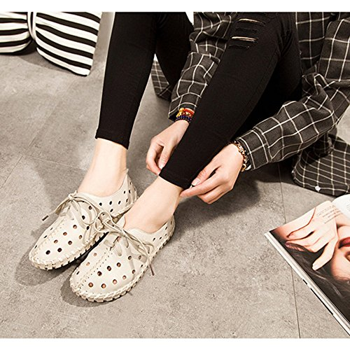 DULEE - Sandalias deportivas de Piel para mujer blanco