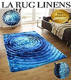 Shimmer 5×7 Shag Shaggy Modern Contemporary Blue Rug Carpet Area Rug Viscose Yarns Hand Tufted Two Toned 3D Pattern Bedroom Living Room SAD 281 Blue Design Review