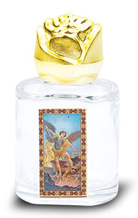 Amazon com : Saint Michael Glass Holy Water Bottle  Pack of 6