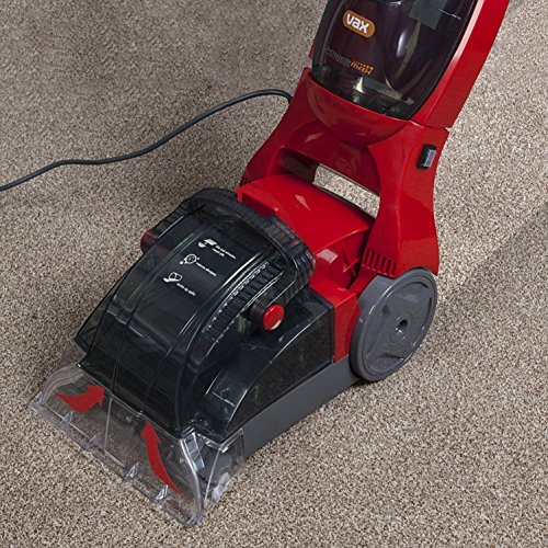 Vax VRS18W Power Max Carpet Washer, Wide Stainless Steel Cleaning Nozzle 24 cm, 500 W - Red