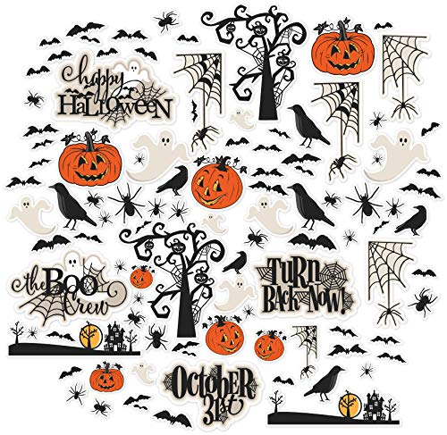 Halloween Cut Out Cards - Paper Die Cuts - The Boo