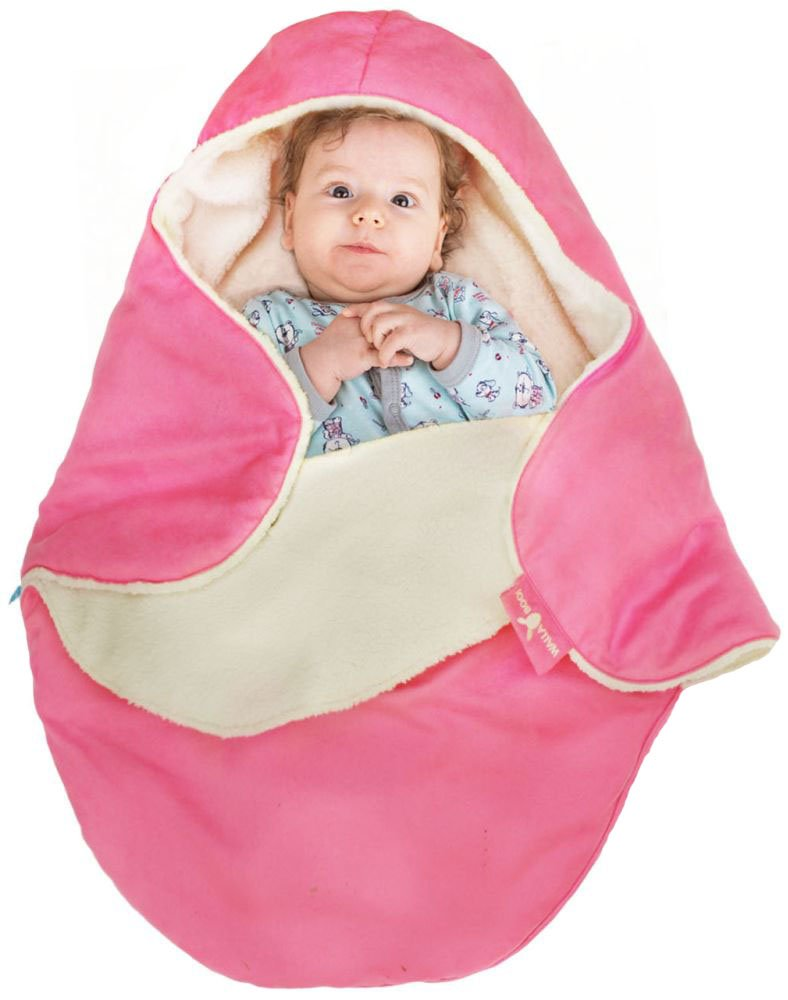 Wallaboo Baby Blanket Coco Nore, Faux Suede and Soft Shearling, Fits Car Seat and Stroller, For Newborn Upto 10 Months, Chocolate Wallaboo BV BCN.0815.4802