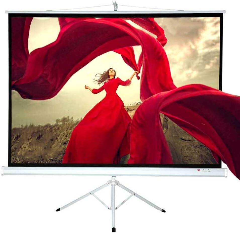 フレーム4でプロジェクタースクリーン:3 HD屋内/屋外作品は、ホーム・シアター映画のために折り畳み式の動画プロジェクタースクリーンを画面 軽便 投影用 会議 教室 屋外屋内用 (色 : 白, サイズ : 75inch)